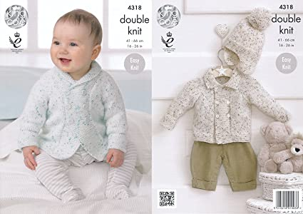 b7a9d83cb Amazon.com  King Cole Double Knitting Pattern Baby Shawl or Flat ...