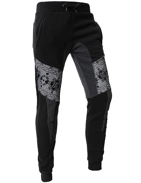 b85c453a451a83 Hat and Beyond Mens Active Fleece Elastic Trouser Casual Harem Jogger Pants  (Small, L13_Black