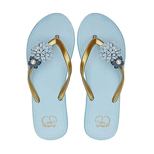 bbf89d847 AX BOXING Women s Flip Flops Thongs Lightweight Women Slippers Sandals  Comfy Summer Shoes for Beach