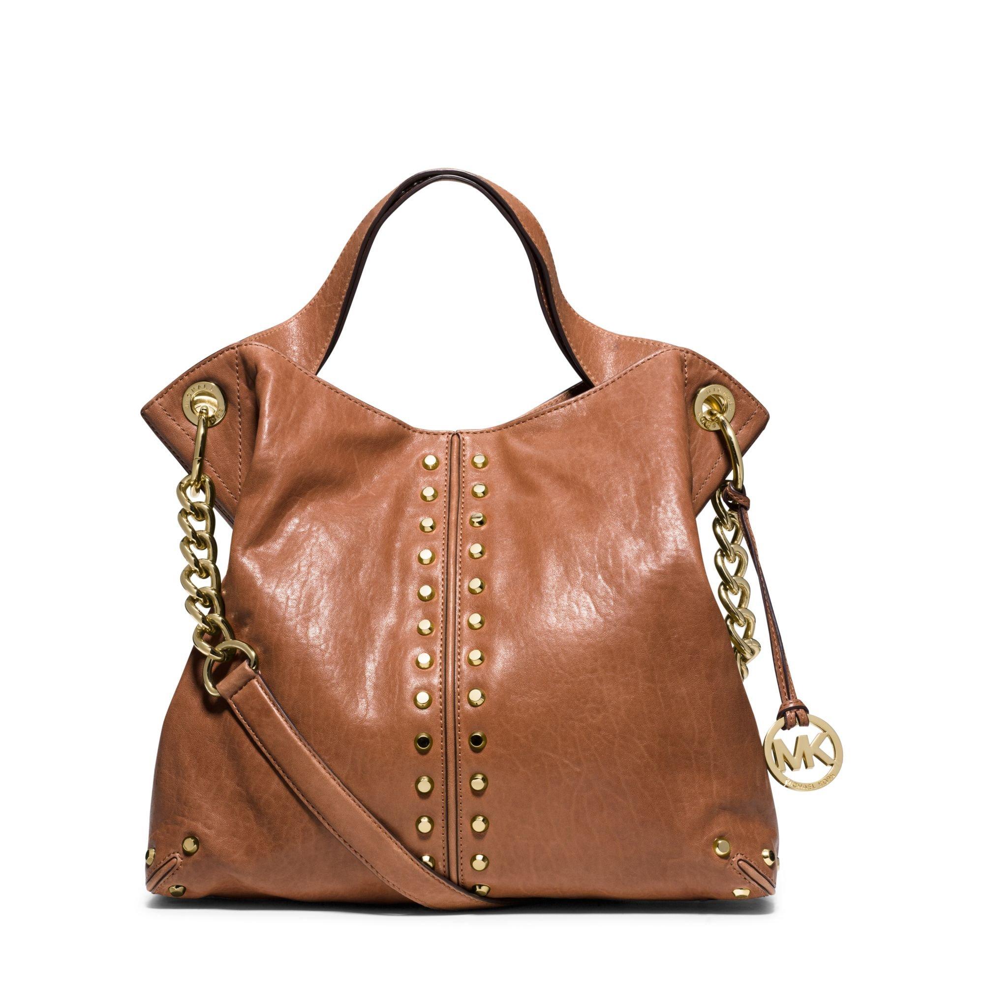 MICHAEL MICHAEL KORS Astor Leather Shoulder Handbag (Walnut) by MICHAEL Michael Kors