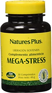 Natures Plus Mega-Stress - Complemento alimenticio,30 Comprimidos