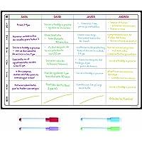 Pizarra Planificadora de Comidas y de Planes por SmartPanda - Calendario Magnético Grande Ideal para Planificar Estudios…