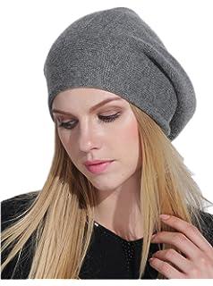Prettystern - LUXUS puro cachemire migliori fibre di colore solido spessore  Beanie - 6 colori 4bac78e7f01b