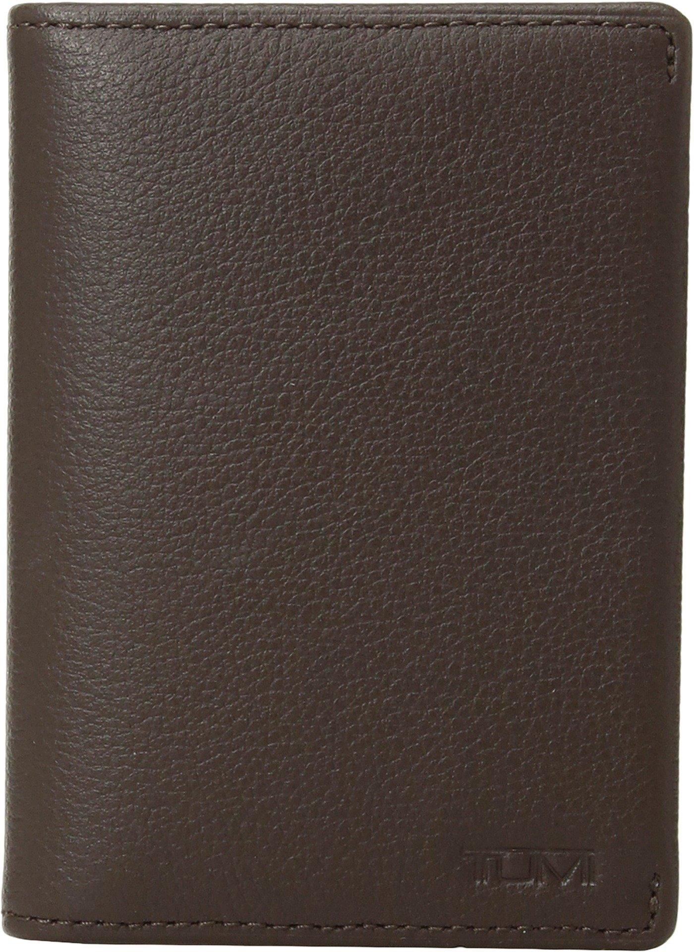 Tumi Men's Nassau Gusseted Card Case Dark Brown Textured One Size