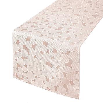Tischläufer Tischdecke ROM, Kreis Muster, 40x140 Cm, Rosa