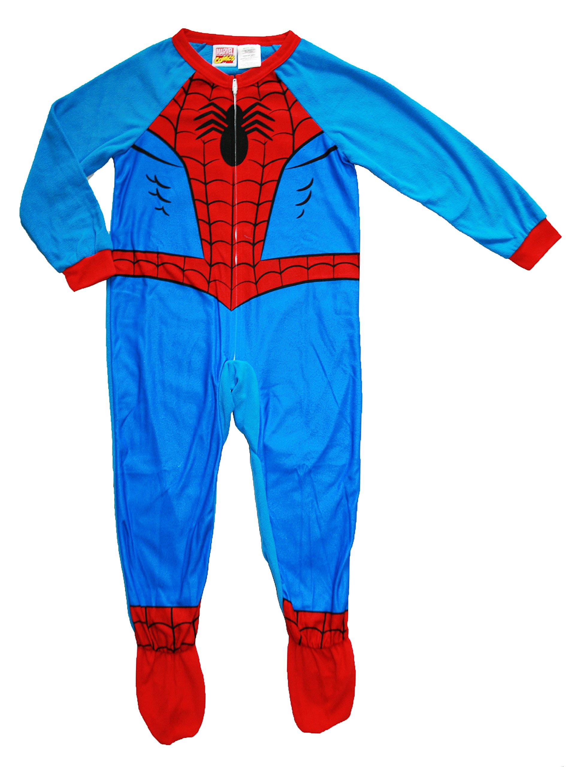 Marvel Spiderman Boy Footed Sleeper Blanket Pajama Size 8