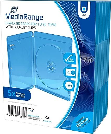 MediaRange BOX38 Blu-ray Funda para discos ópticos(capacidad 1 ...