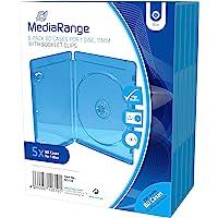 MediaRange BOX38 Blu-ray Funda para discos ópticos(capacidad 1 disco, plástico), pack de 5