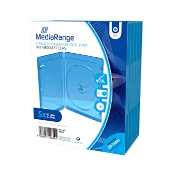 MediaRange BOX38 Blu-ray Funda para discos ópticos(capacidad ...