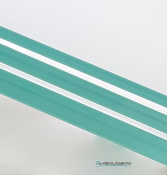 80 cm x 20 cm Glasplatte//Glasregal Klarglas 8 mm stark 800 mm x 200 mm alle Ma/ße lieferbar Direkt vom Glasereifachbetrieb!!