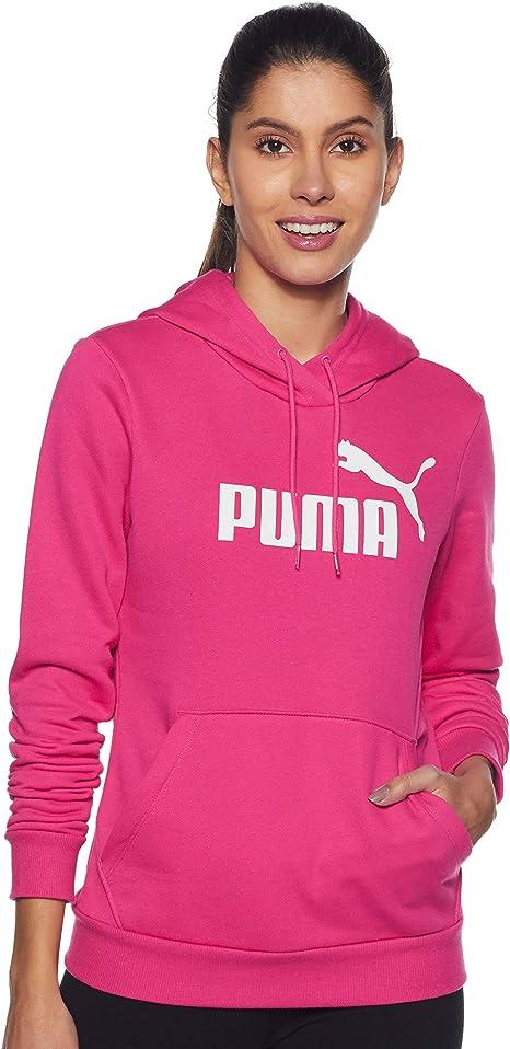 PUMA Damen Sweatshirt ESS Logo Hoody FL: : Bekleidung