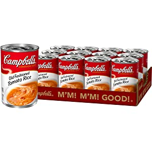 Campbell'sCondensed Old-Fashioned Tomato Rice Soup, 11 oz. Can (Pack of 12)
