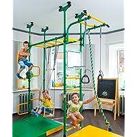Pegas: Children's Indoor Home Gym Swedish Wall Playground Set Gymnastic Ladder Horizontal bar Moving Gymnastic Rings…