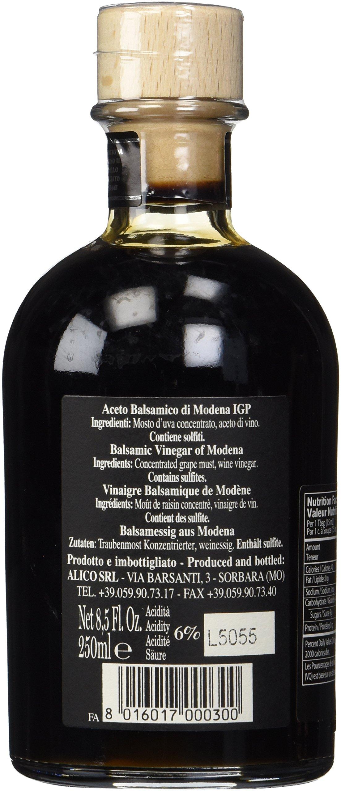 Fattoria Estense Silver Label Aceto Balsamico Di Modena Vinegar, 8.5 Fluid Ounce
