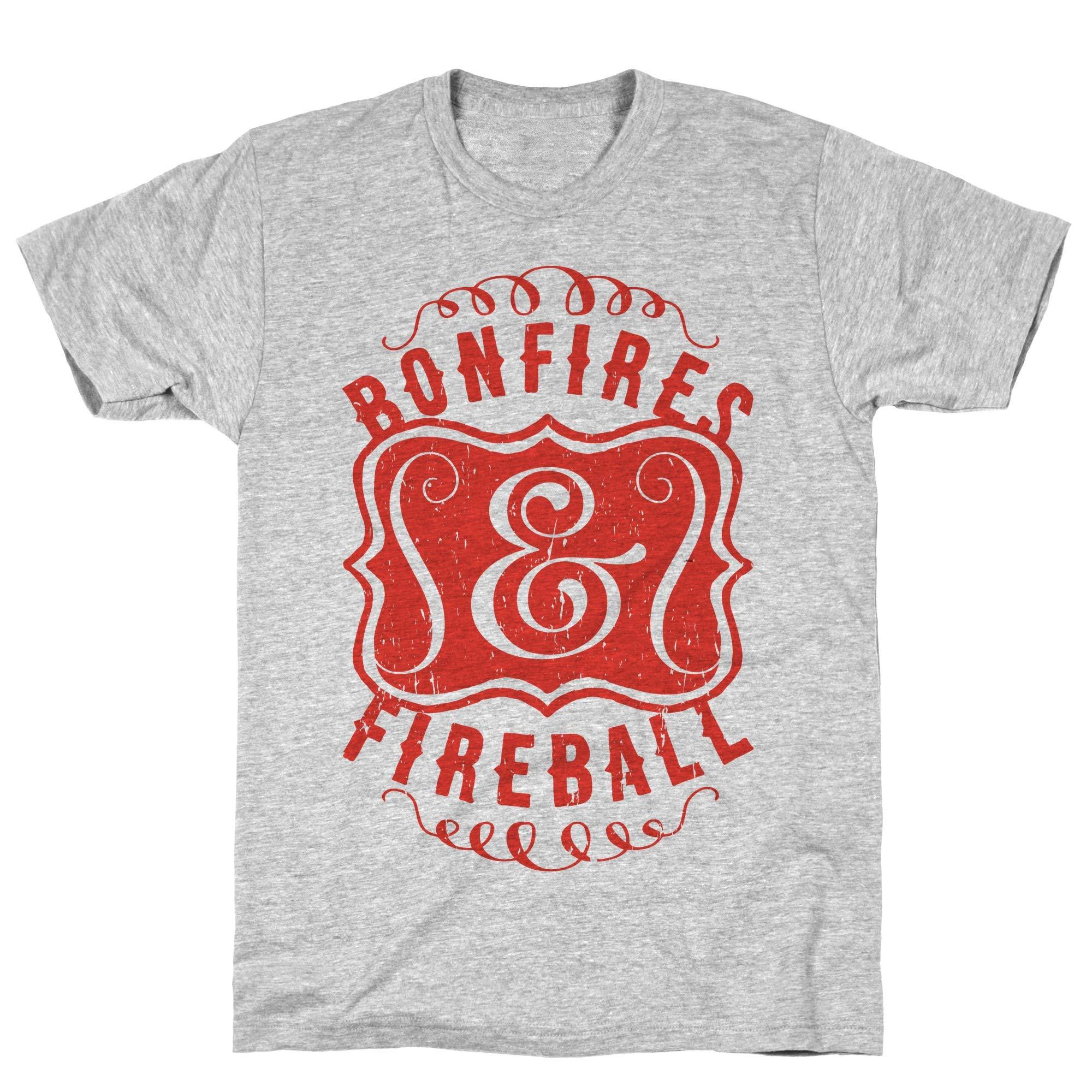 Bonfires And Fireball Athletic Gray S Ts Shirts