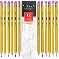 ARTEZA #2 Hb Wood Cased Graphite Pencils, Pack of 12, Bulk, Pre-Sharpened with Latex Free Erasers, Bulk Pack, Smooth…