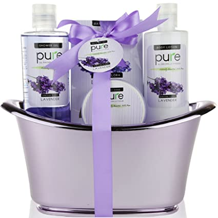 Pure by Rachelle Parker Lavender Essential Oil Spa Basket! Redefine Luxury The Ultimate Lavender Spa  sc 1 st  Amazon.com & Amazon.com: Pure by Rachelle Parker Lavender Essential Oil Spa ...
