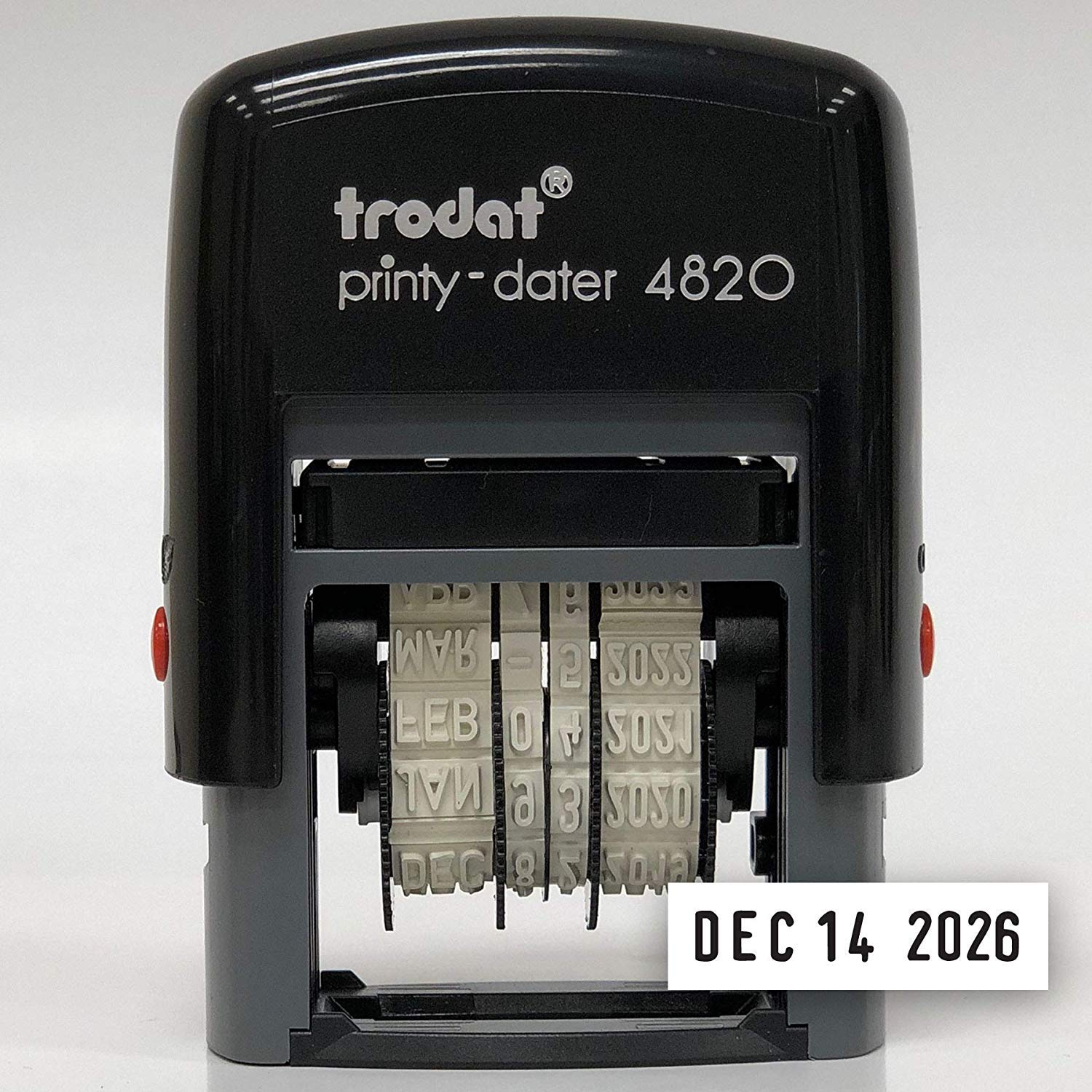 Trodat Printy Economy Date Stamp, Self-Inking, Stamp Impression Size: 3/8 x 1-1/4 Inches, Black (E4820)