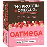 Oatmega Protein Bar, White Chocolate Raspberry, 1.8 Ounce, 12 Count