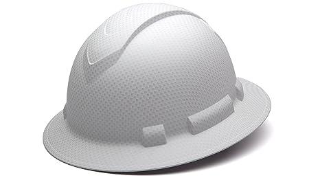 Pyramex Bonus Bundle Safety HP54116, Ridgeline Full Brim Hard Hat White  Graphite Pattern Light Weight with Replacement Terry Cloth Sweatband  Accessory