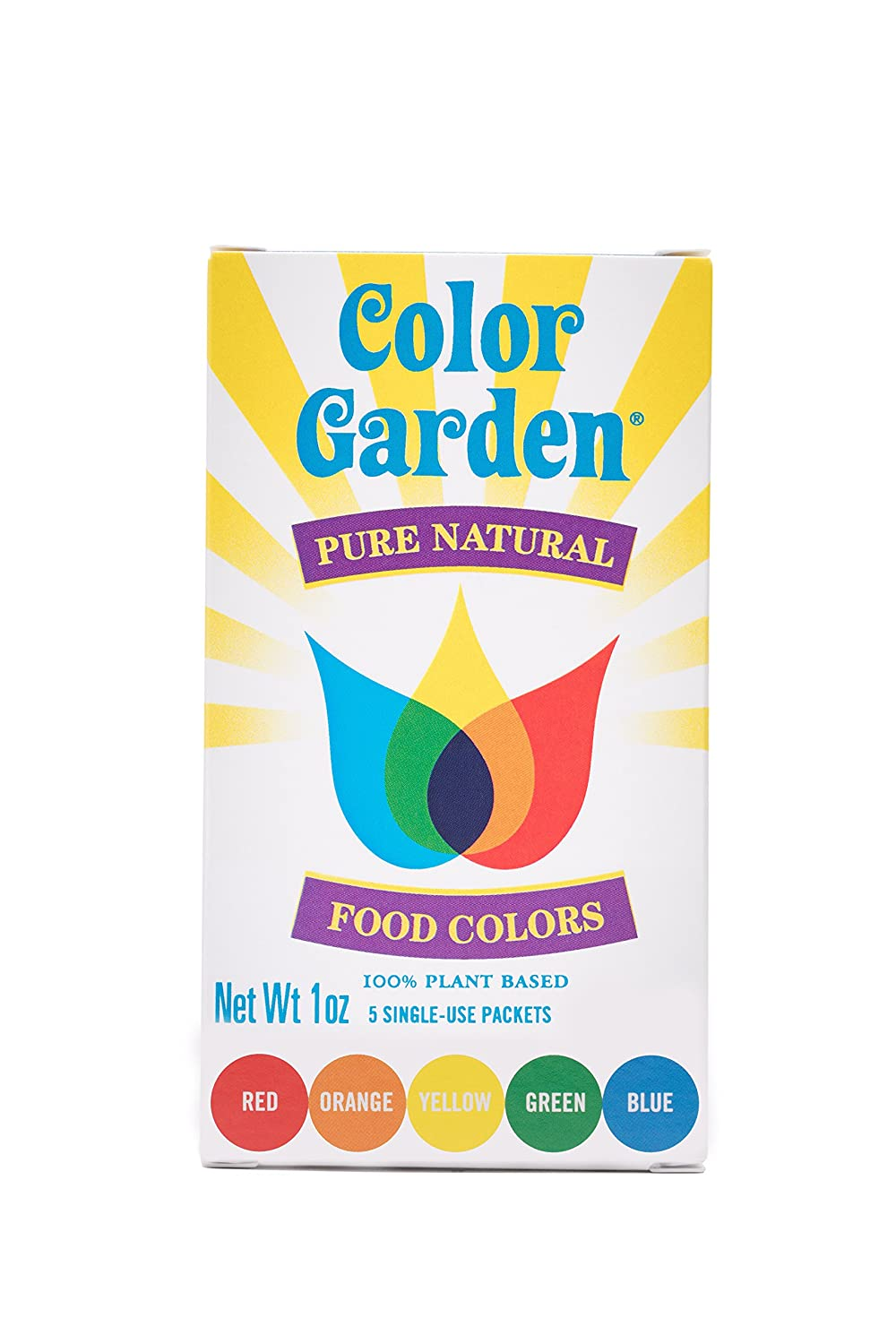 Color Garden Pure Natural Food Colors, Multi Pack 5 ct