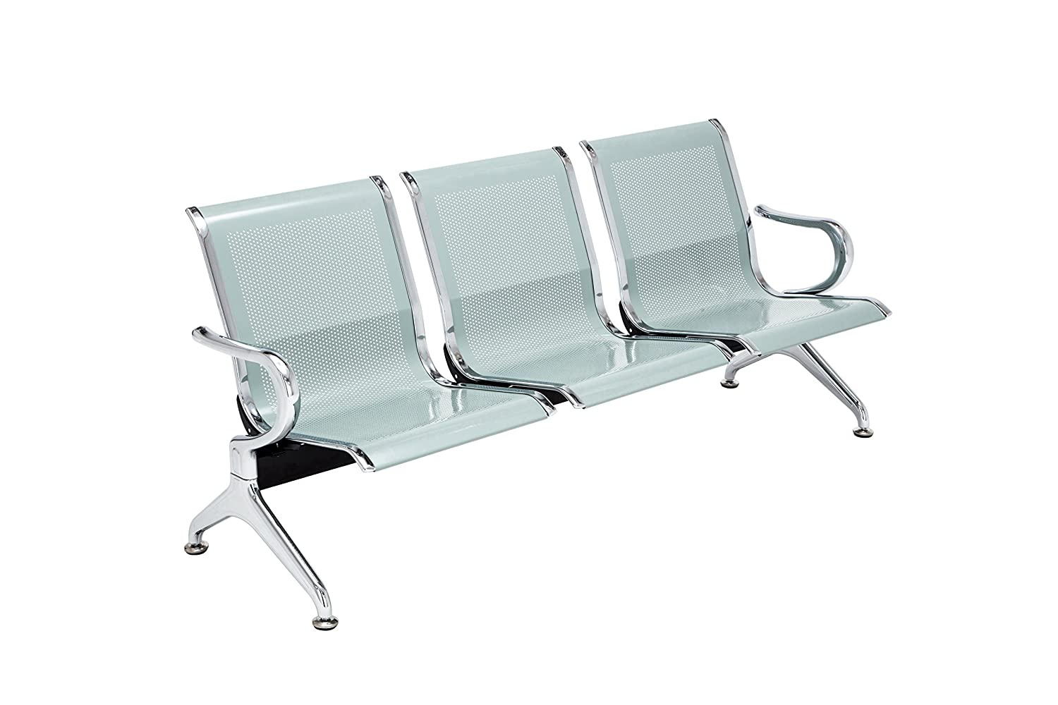 Amazing Walcut Airport Office Reception Waiting Chair Bench Guest Chair Room Garden Salon Barber Hospital Bench 3 Seats Silver Unemploymentrelief Wooden Chair Designs For Living Room Unemploymentrelieforg