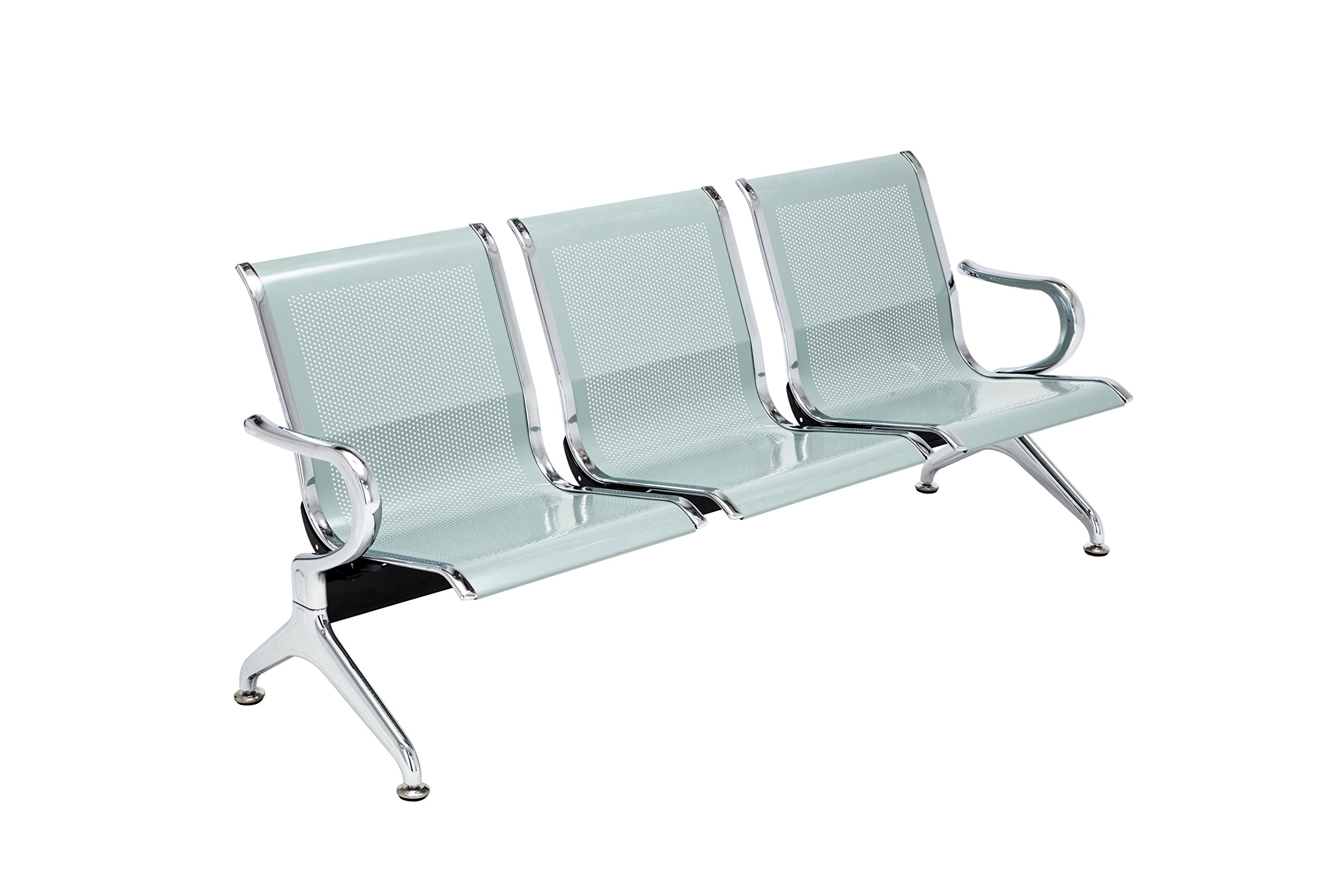 walsport Airport Office Reception Waiting Chair 3-seat Bench Guest Chair Salon Garden Barbershop Hospital Waiting Room Chairs