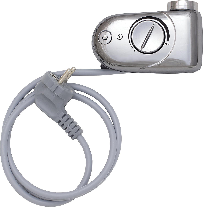 Heizpatrone Heizstab mit Thermostat 300 600 1200 Watt f/ür Badheizk/örper BZHSRTA600 900