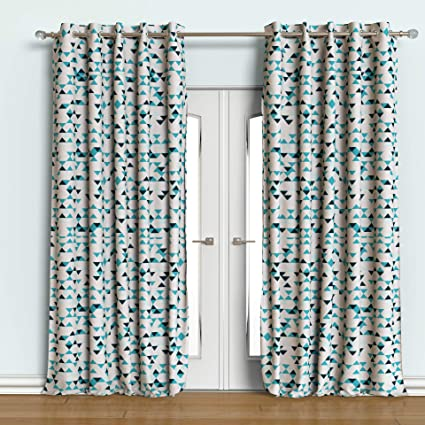 Buy Rainforest Italy Designer Printed Alice Blackout Curtain Set Of