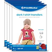 Printworks White T-Shirt Transfers For Use on Light Fabrics
