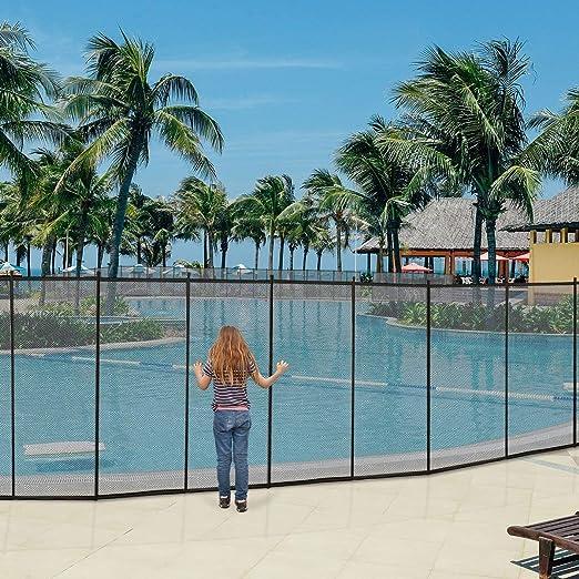 COSTWAY Valla de Seguridad para Piscina Barrera Protección de Piscina Cerca Niño Valla 366x122cm: Amazon.es: Jardín