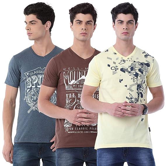 952684ccf0fb Classic Polo Half Sleeves 100% Cotton V-Neck T Shirt for Men  Amazon ...