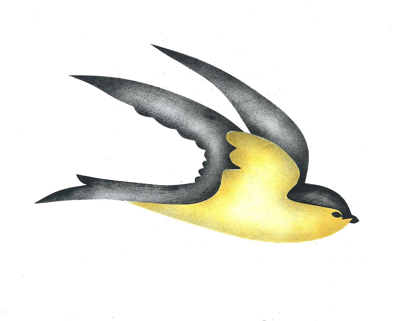 Amazon Flying Swallow Bird Wall Stencil Sku 685 By Designer
