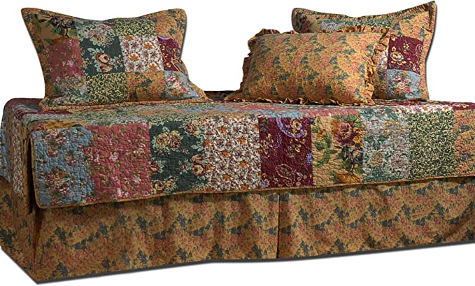 Greenland Home Antique Rose Daybed Set 5-Piece Daybed