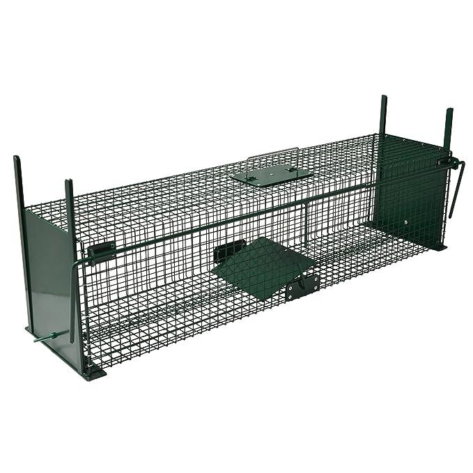 Moorland Safe 5007 -Trampa para Animales Vivos - Martas, Gatos Zorros - 100x25x25cm - Alambre 2 Entradas: Amazon.es: Jardín