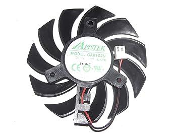 apistek 75 mm ga81s2u - nntb 12 V 0,38 A 2 Cable Ventilador ...