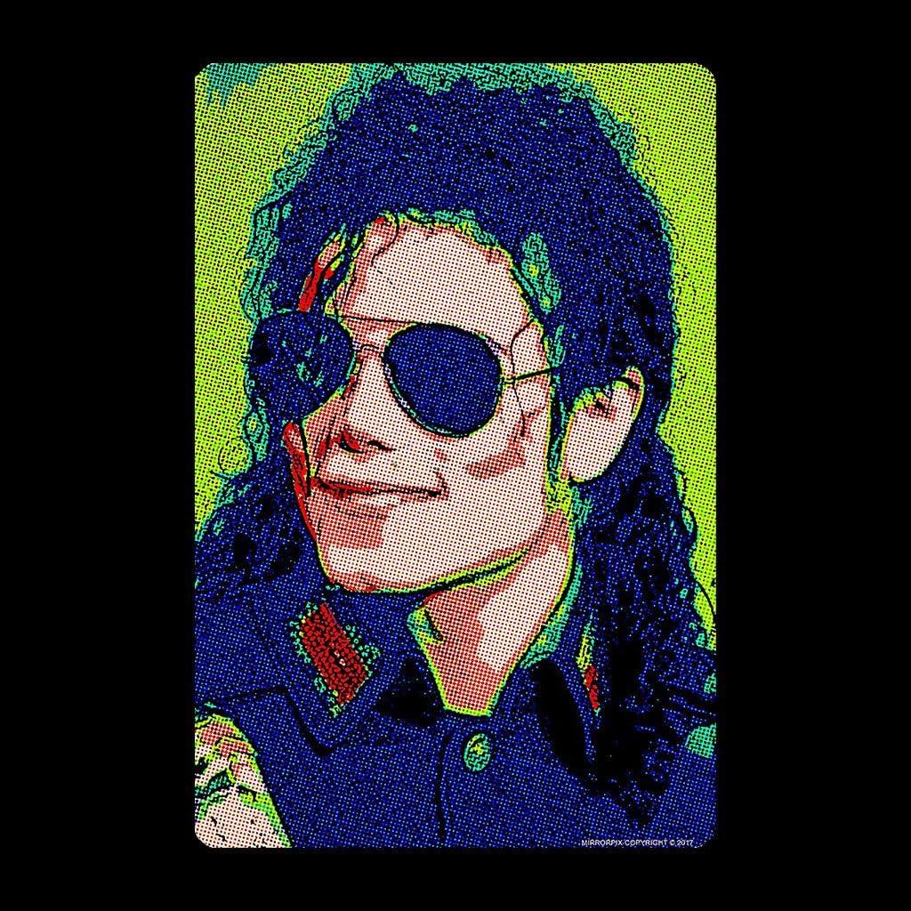 Michael Jackson Sunglasses Neon Pixelated Effect Kids T-Shirt