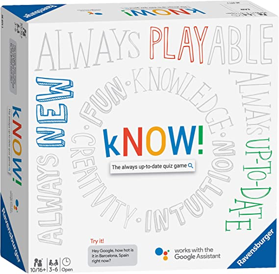 Ravensburger 26071 Know Interactive Board Kids & Adults Age 10 Years and  Up-The Always-up-to-Date Quiz Game Powered by The Google Assistant-English  Version: Amazon.co.uk: Toys & Games