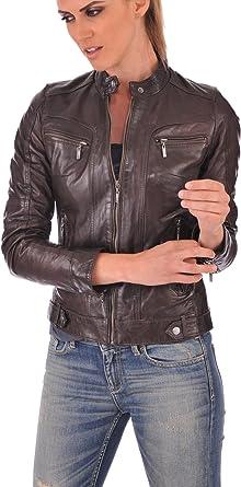 Excentoutwear Mens Lambskin Leather Bomber Biker Jacket