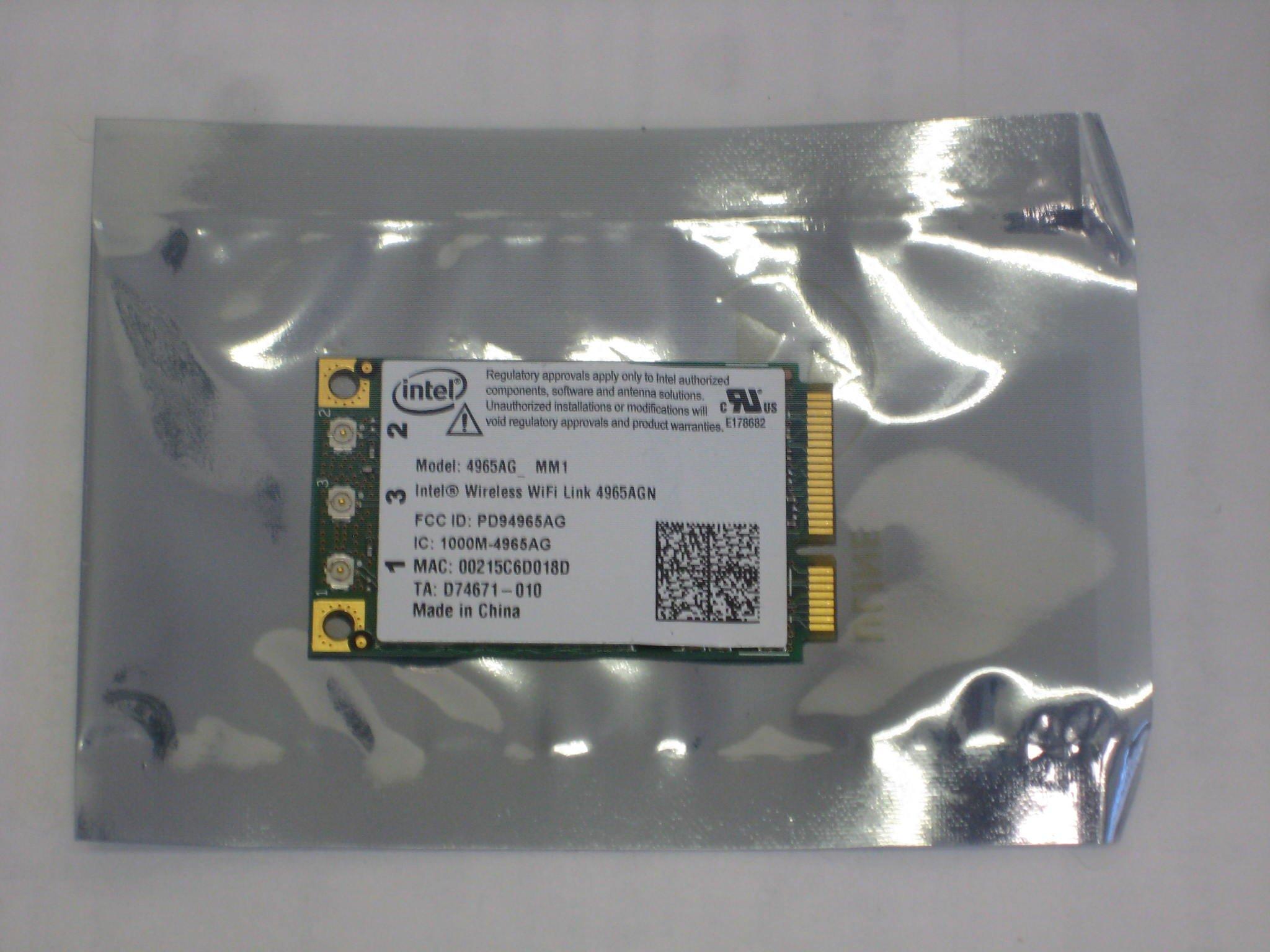 DELL D520 D620 D820 D630 D830 INTEL Wireless-N Card New Intel PRO/Wireless 4965AGN Mini-PCI Express Adapter by Intel