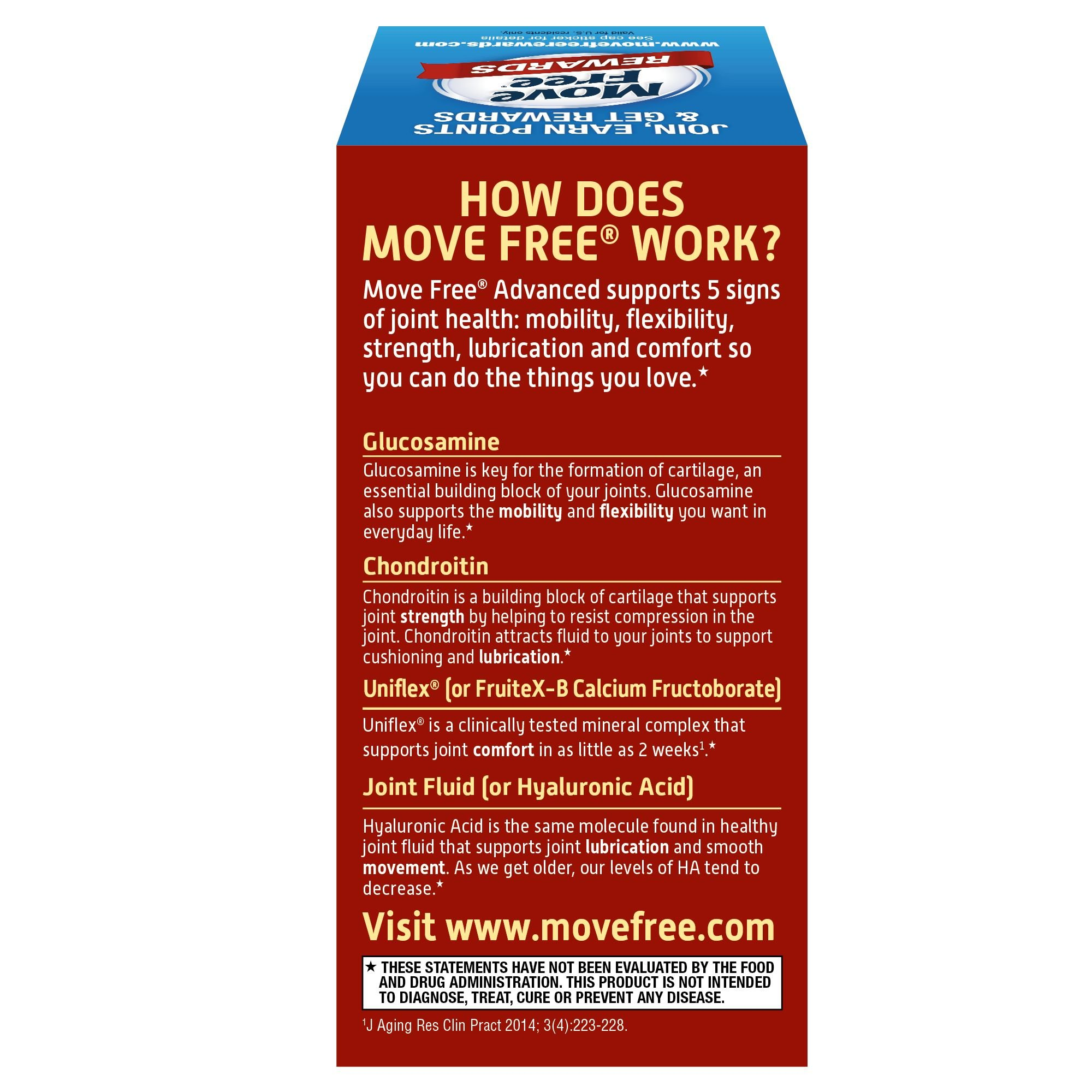 Glucosamine & Chondroitin Advanced Joint Health Supplement Tablets, Move Free (200 count in a bottle), Supports Mobility, Flexibility, Strength, Lubrication and Comfort by Move Free (Image #10)