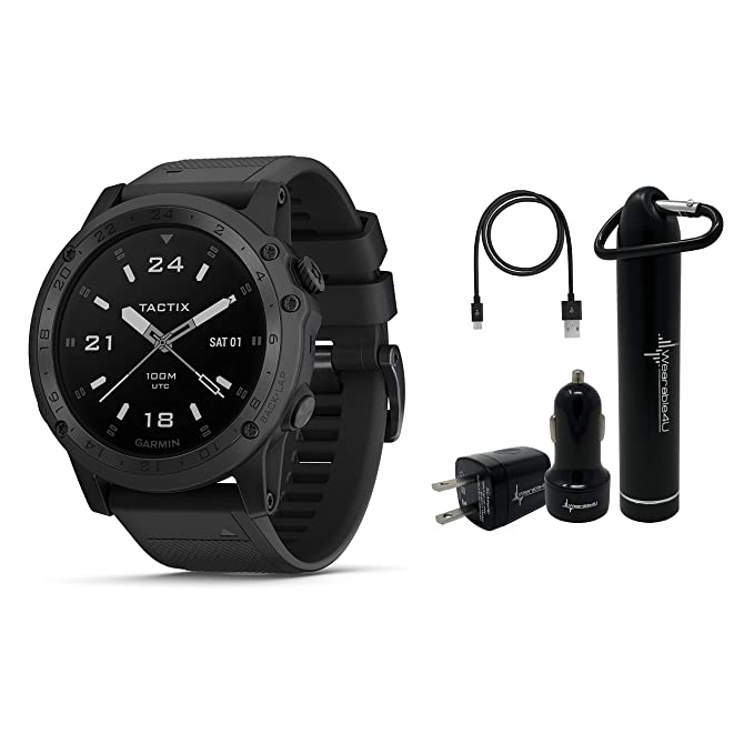 97e689e1e47 Amazon.com: Garmin Tactix Charlie Premium Tactical GPS Watch with TOPO Maps  and Wearable4U Ultimate Power Pack Bundle: GPS & Navigation