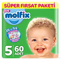 Molfix 3D Bebek Bezi, Junior 5 Beden, Süper Fırsat Paketi 60 Adet