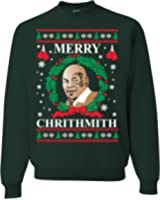 Mike Tyson Merry Chirithmith Ugly Christmas Sweater Unisex Sweatshirts Forest Green