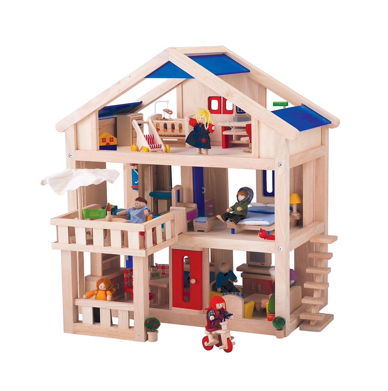 Amazon Com Plan Toys Plan Toys Dollhouse Series Terrace Dollhouse