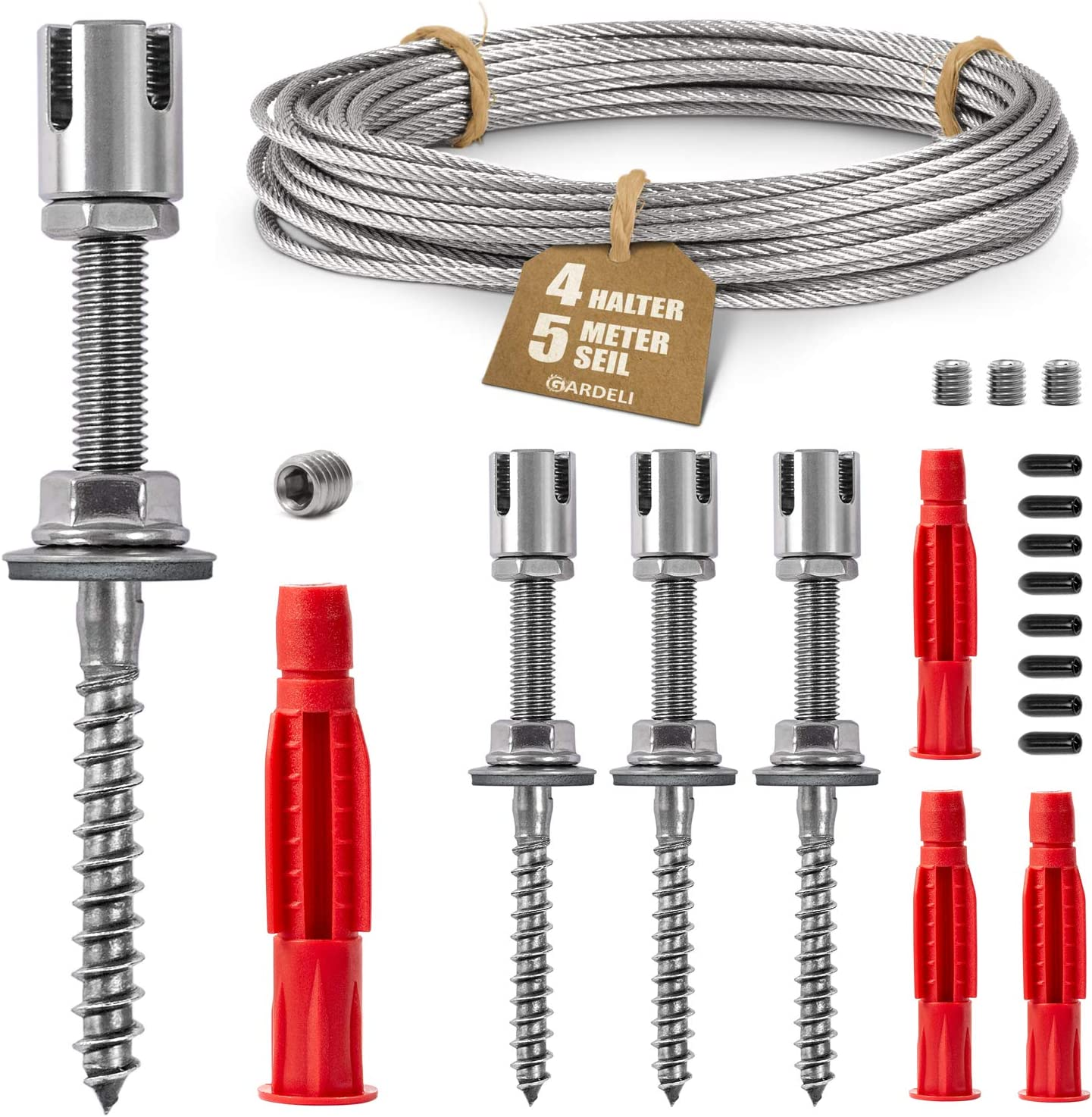 Trellis Set 5-20m Steel Cable Rope Clamp Wire Rope Climbing Aid