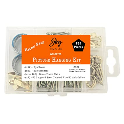 Skoj assorted picture hanging kit 132 pieces heavy duty skoj assorted picture hanging kit 132 pieces heavy duty assortment with wire picture greentooth Images