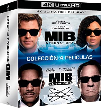 Pack 1 + 2 + 3 + International: Men in Black 4K UHD + BD Blu-ray: Amazon.es: Tommy Lee Jones, Will Smith, Chris Hemsworth, Barry Sonnenfeld, F. Gary Gray, Tommy Lee Jones,