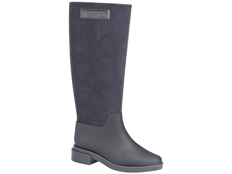 Melissa Shoes Womens Long Boot Flocked B01NAX34P0 8 B(M) US|Grey Flocked