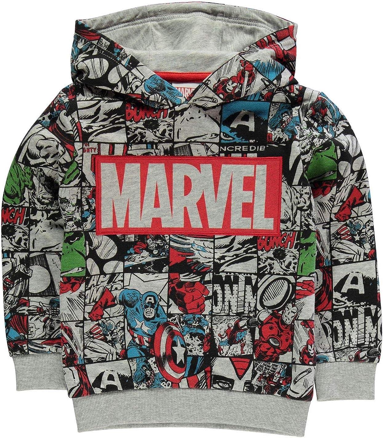 Marvel Comics Avengers Sweat à capuche pour enfant Motif personnages